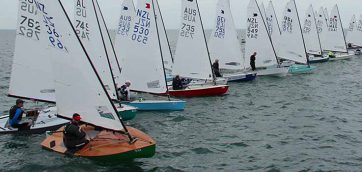OK Dinghy race start